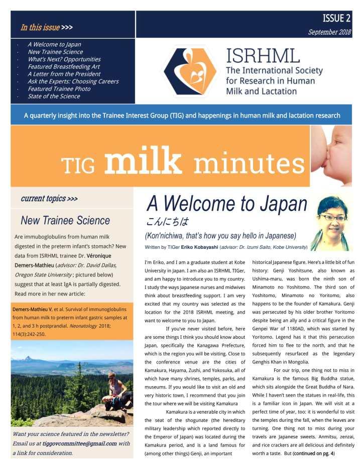 Edition 2 TIG Newsletter September 2018-1