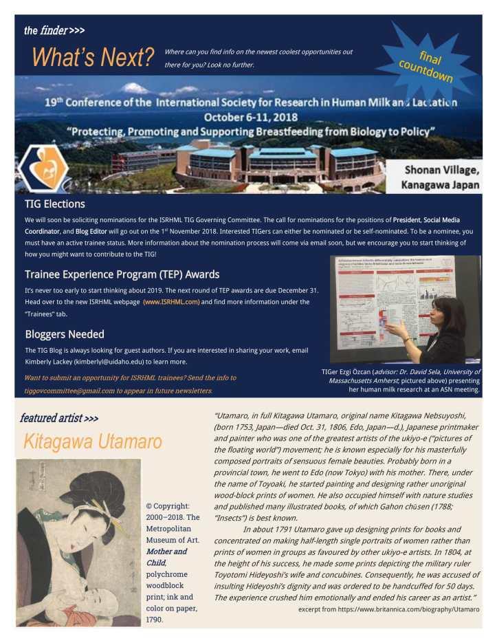 Edition 2 TIG Newsletter September 2018-2
