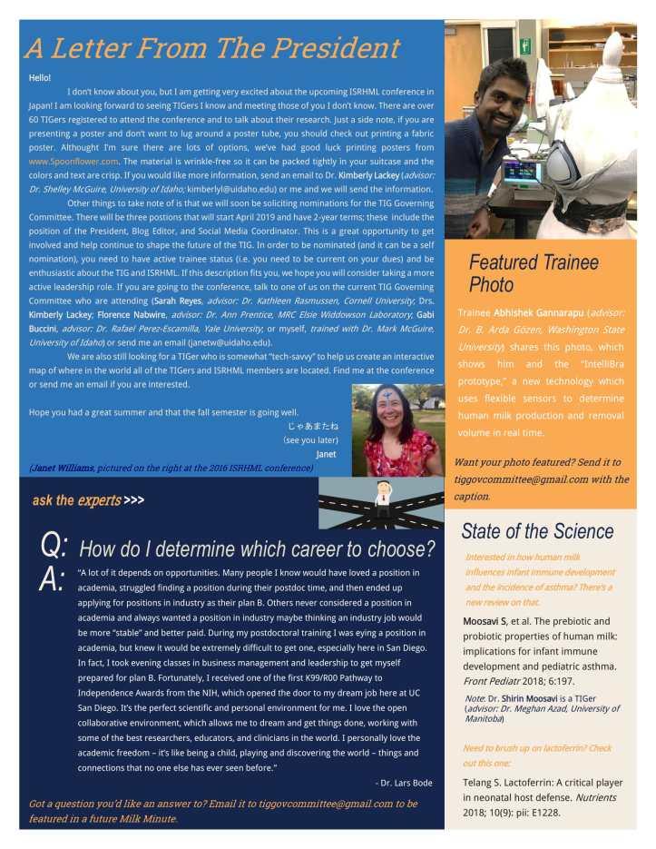 Edition 2 TIG Newsletter September 2018-3